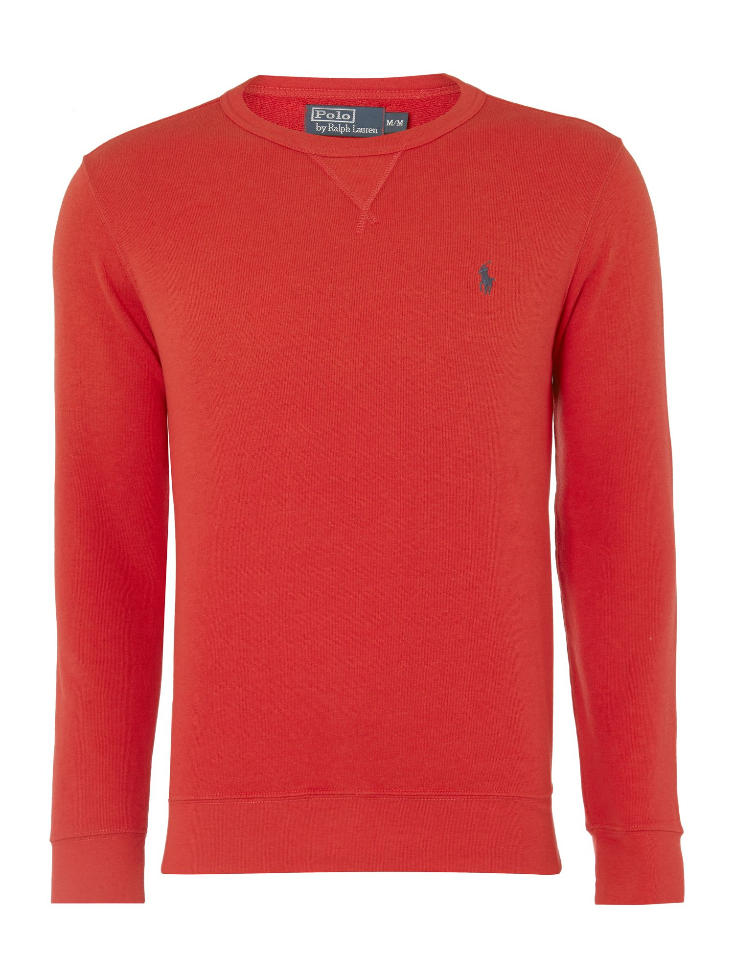 polo ralph lauren long sleeve sweatshirt in red for men lyst. Black Bedroom Furniture Sets. Home Design Ideas
