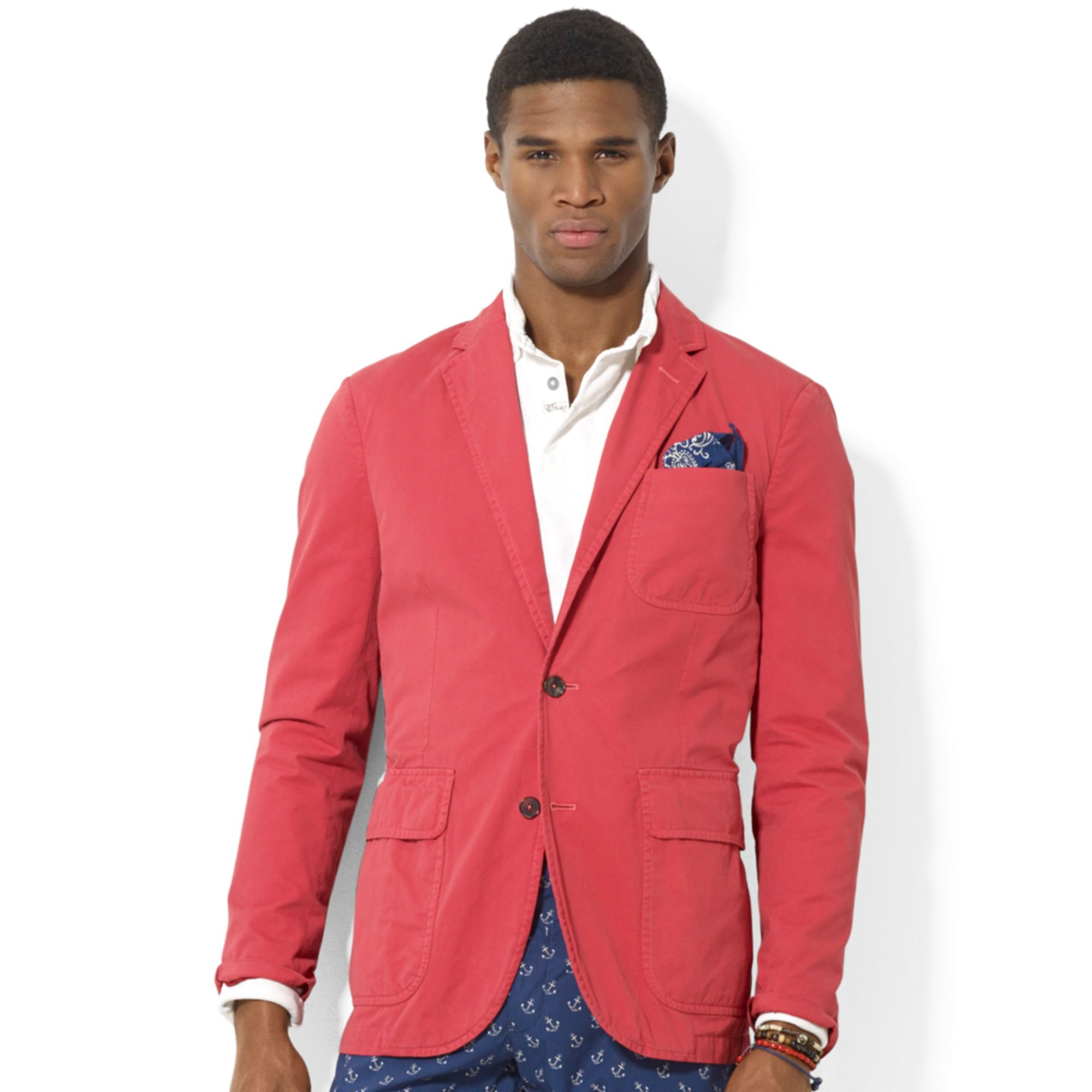 Polo ralph lauren Polo Hampton Chino Sport Coat in Red for Men | Lyst