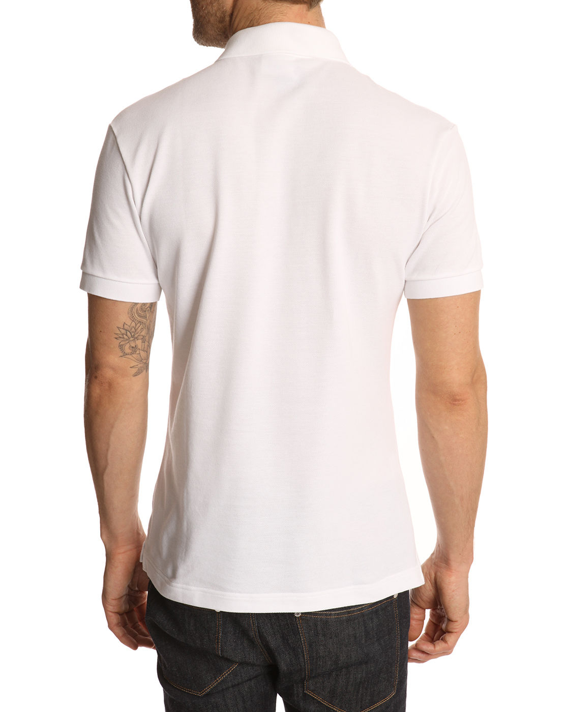 Lacoste white slim fit polo shirt in white for men lyst for White fitted polo shirts