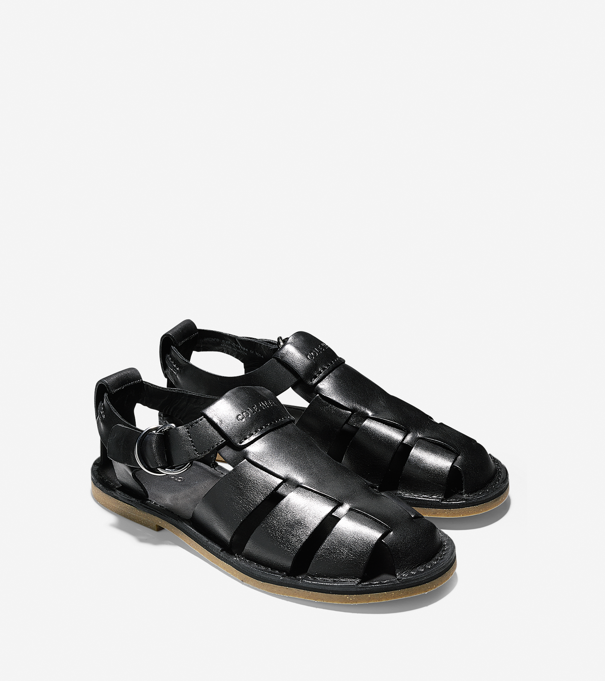 Lyst Cole Haan Ginsberg Fisherman Sandals In Black For Men