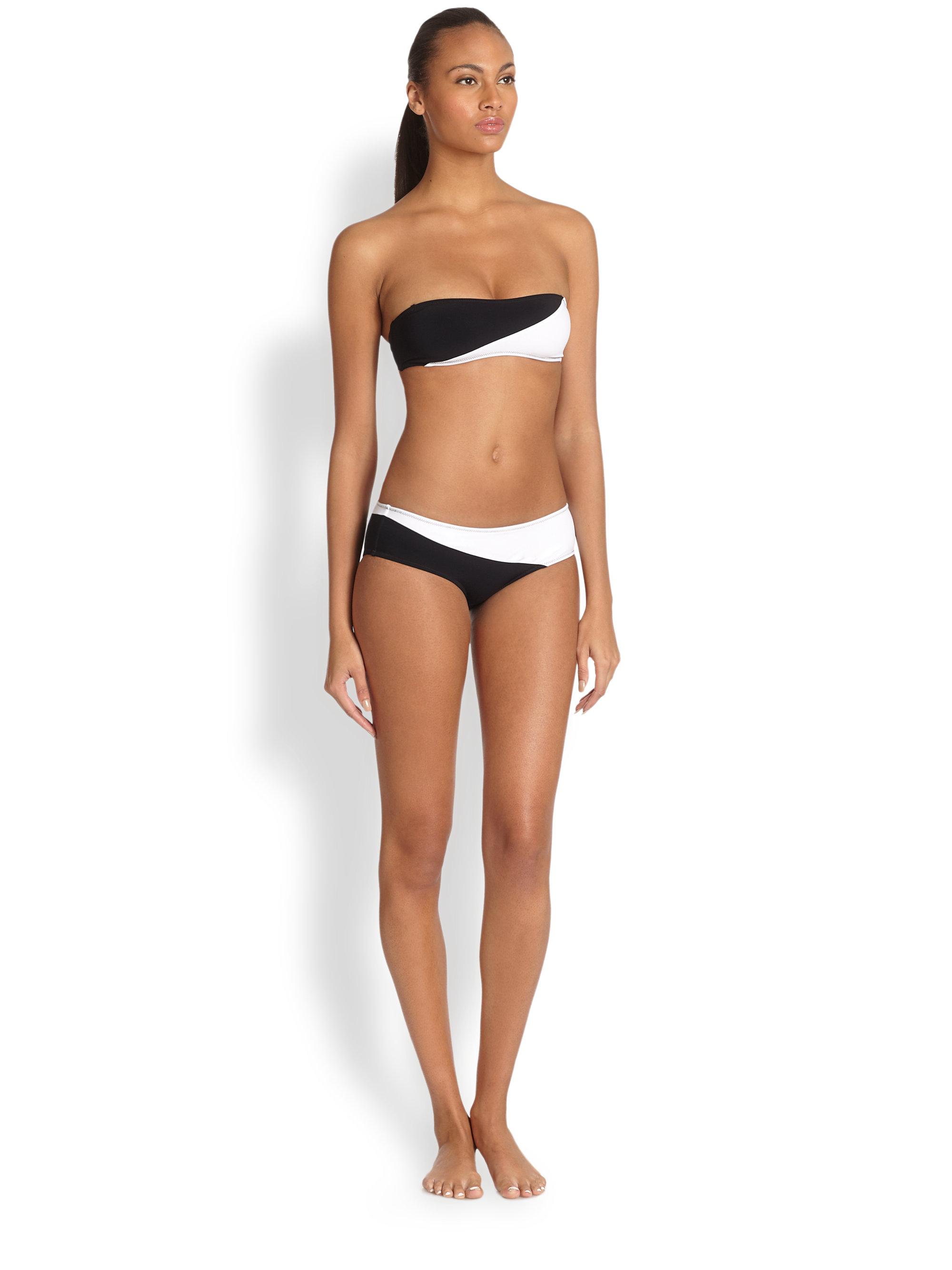 Missguided Black Wet Look Triangle Bikini Set - Lyst