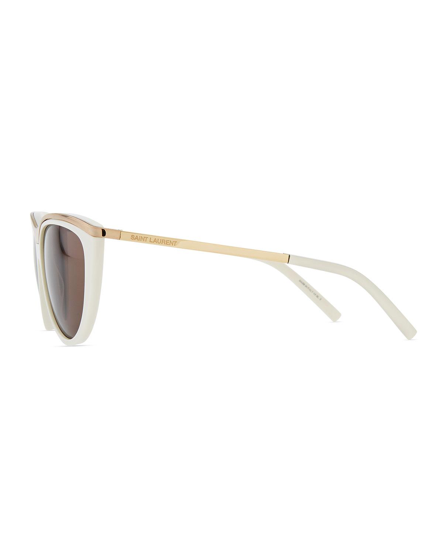 b3ca996930ebd Saint Laurent Cat Eye Sunglasses White