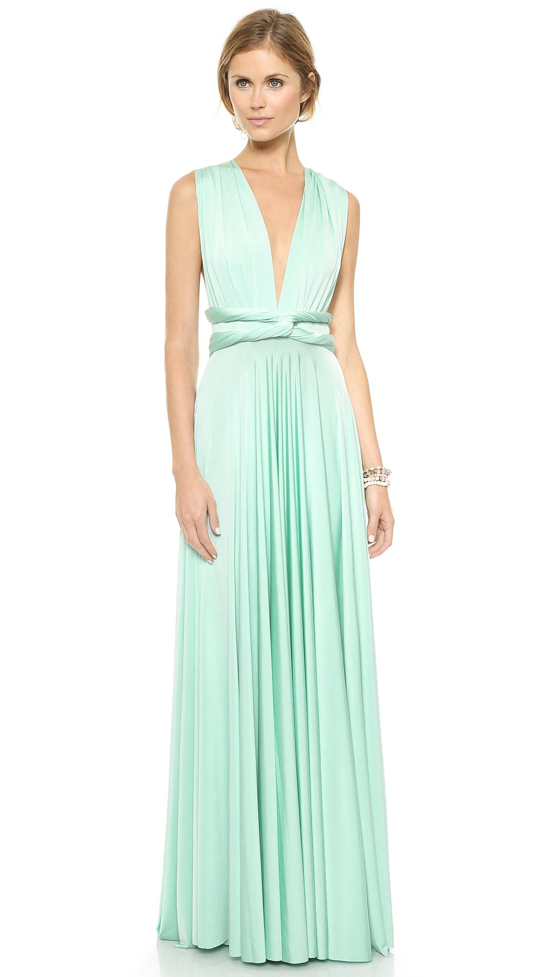 Twist Wrap Dress Long