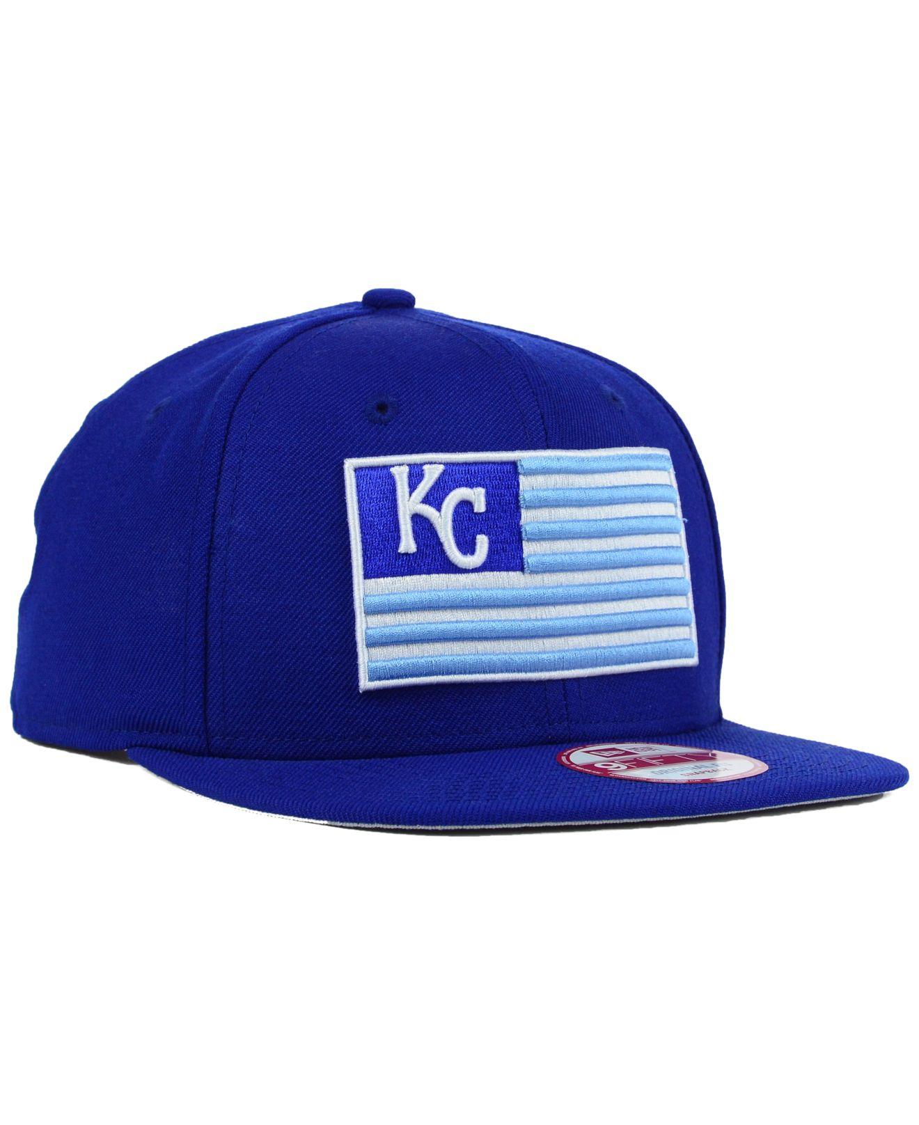 8b11f2f0f90 Lyst - KTZ Kansas City Royals Team Merica 9Fifty Snapback Cap in ...