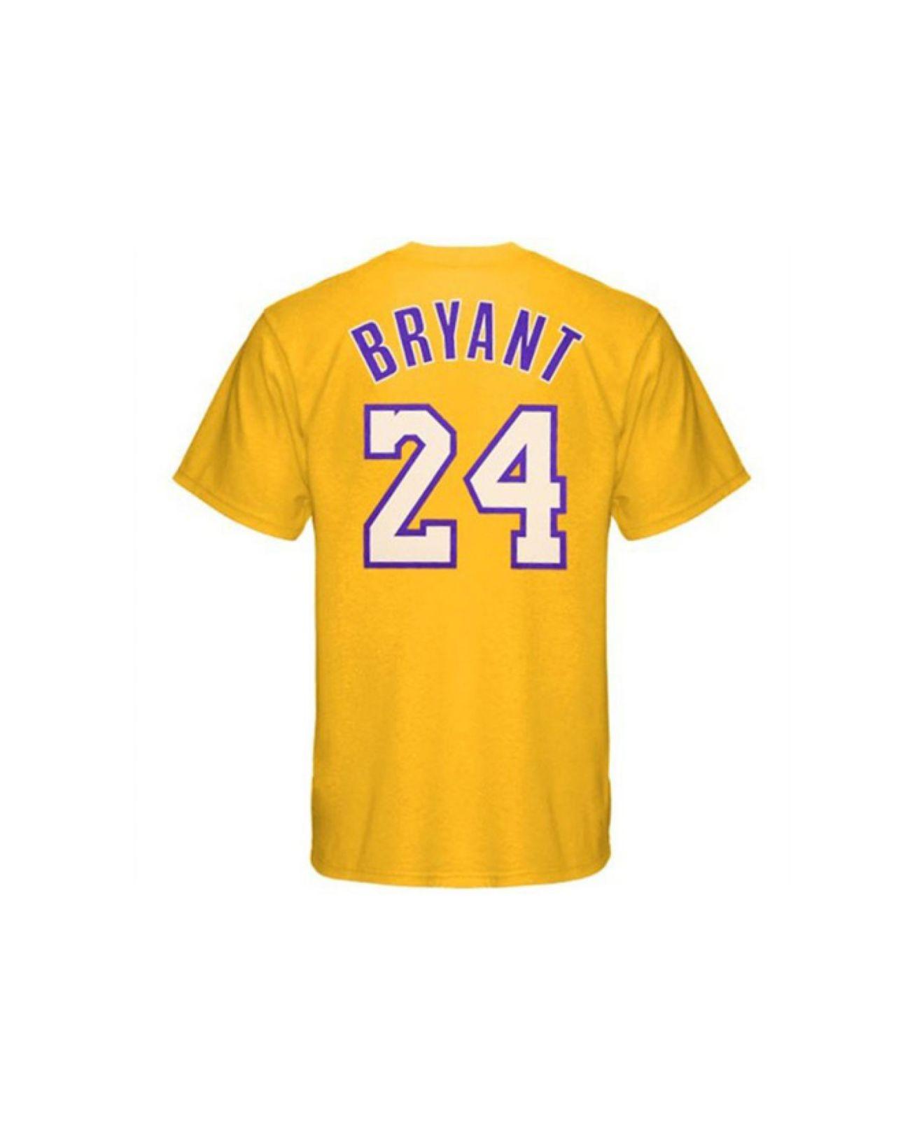 Kobe Bryant Backpacks >> Adidas originals Men's Los Angeles Lakers Kobe Bryant Player T-shirt in Metallic for Men | Lyst