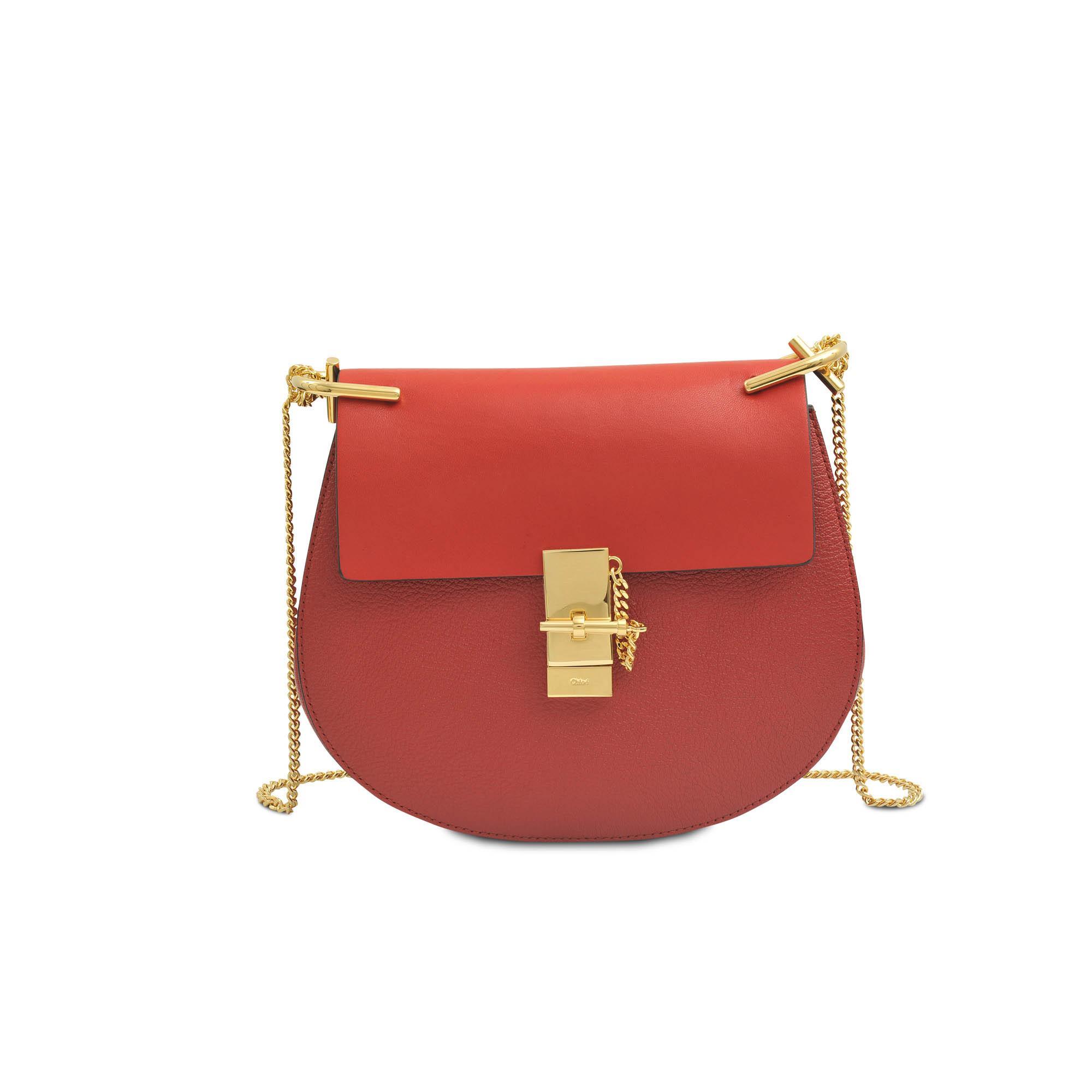chlo drew medium chain bag in red lyst. Black Bedroom Furniture Sets. Home Design Ideas