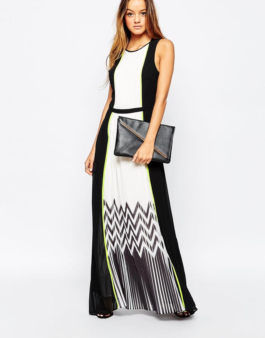 Diesel black pleated maxi dress
