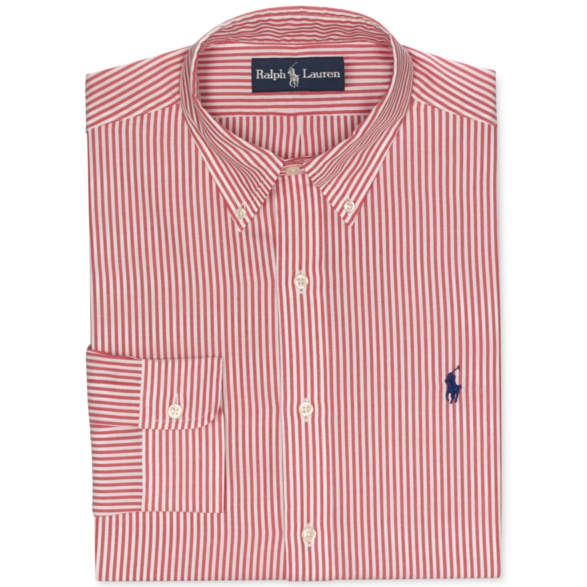 Red and white striped mens dress shirt for Mens red and white striped dress shirt