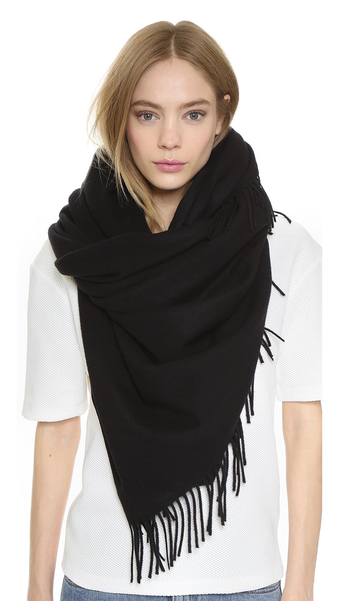 acne studios alaska scarf black in black lyst
