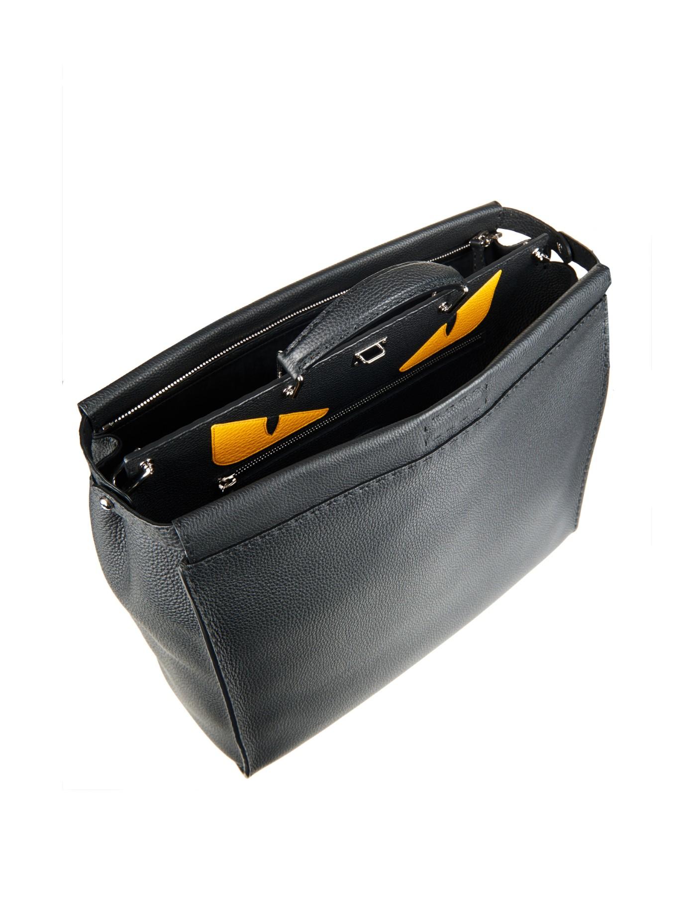 Lyst - Fendi Selleria Peekaboo Leather Tote in Black for Men ac07ddb562bd5