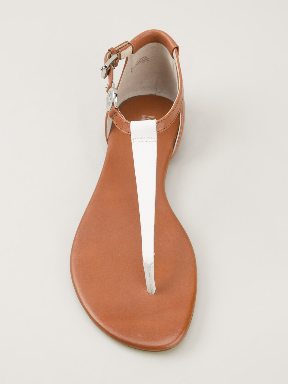 a2b6d986a5e0 Lyst - MICHAEL Michael Kors Bridget Thong Sandals in Brown