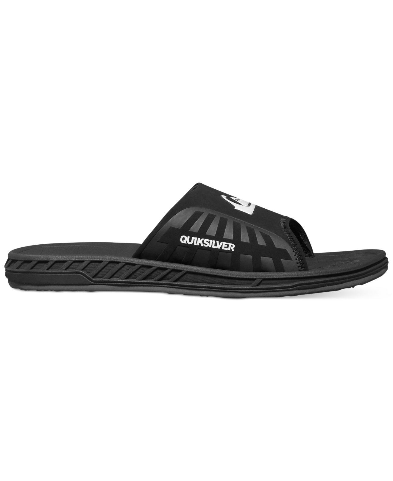 40ec7d793850 Lyst - Quiksilver Triton Slide Sandals in Black for Men