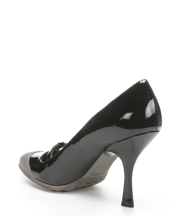 Miu Miu Patent Cap-Toe Pumps outlet clearance store discount affordable clearance visa payment kcx2005f
