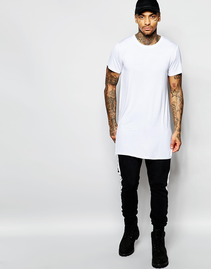 Lyst - Underated Longline T-shirt in White for Men c0cce9e6cc6