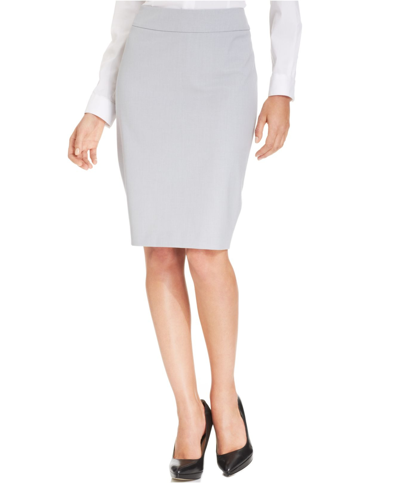 Jones new york Pencil Skirt in Gray | Lyst