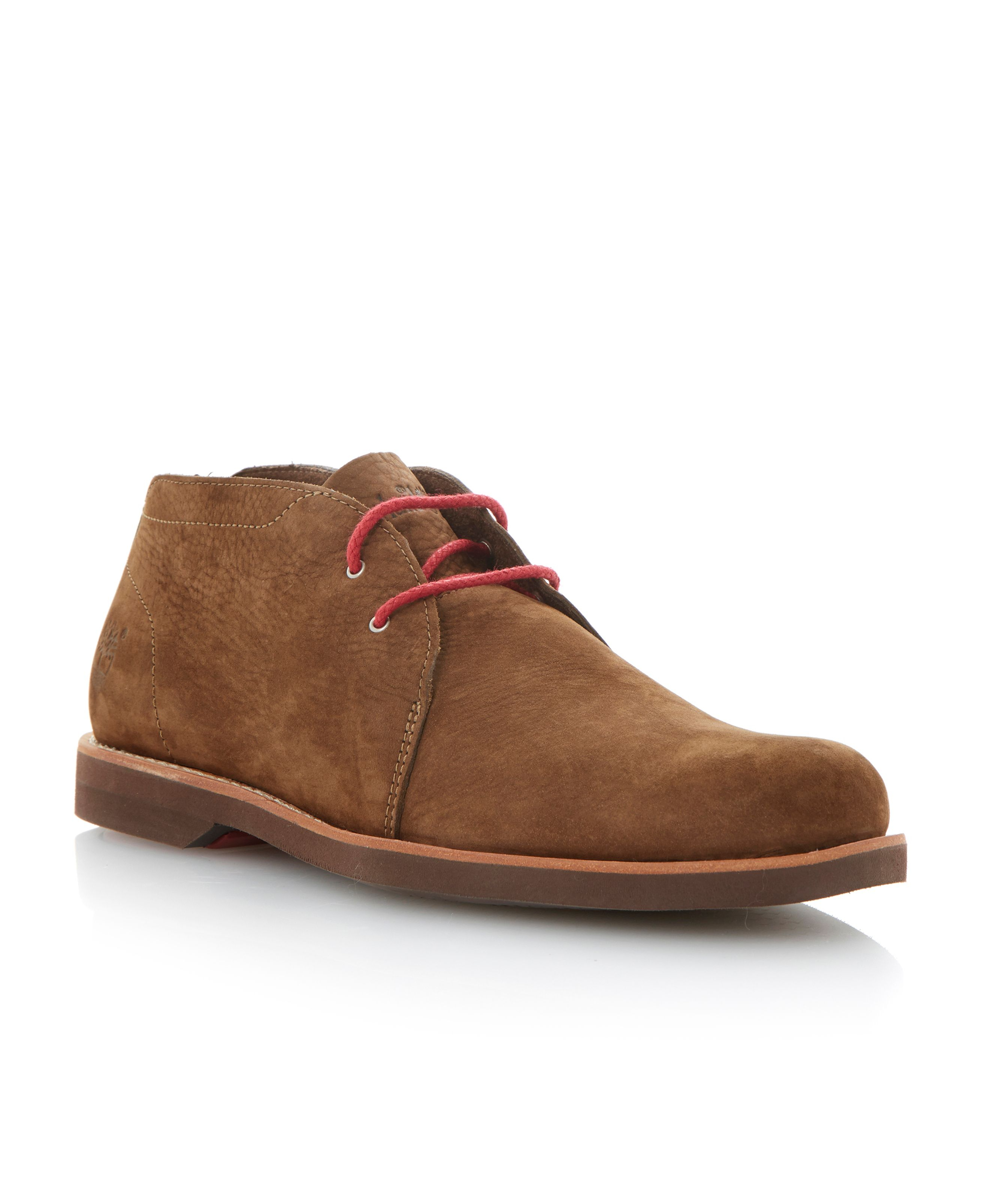 timberland lace up 2 eye chukka boots in brown for lyst