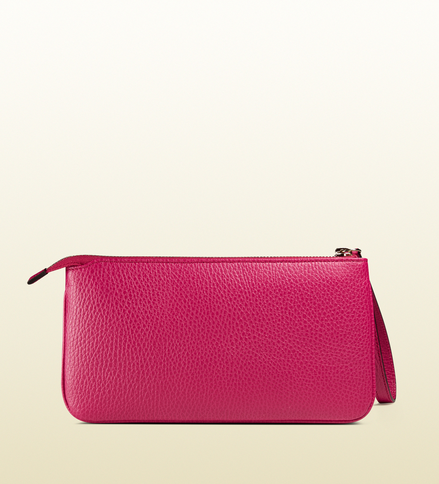 0f8b98021e0 Lyst - Gucci Swing Leather Wristlet in Pink