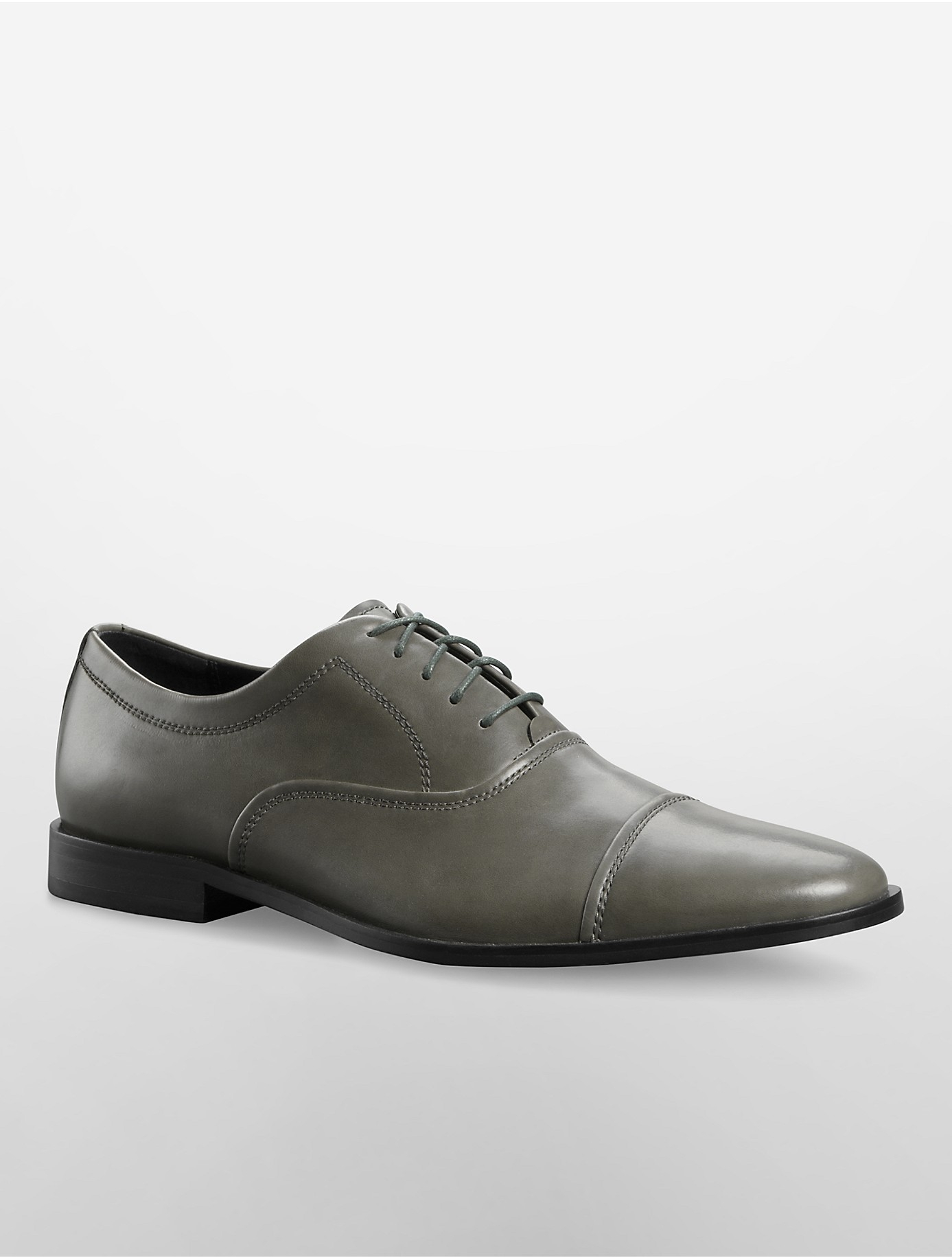 calvin klein nino cap toe oxford in gray grey lyst. Black Bedroom Furniture Sets. Home Design Ideas