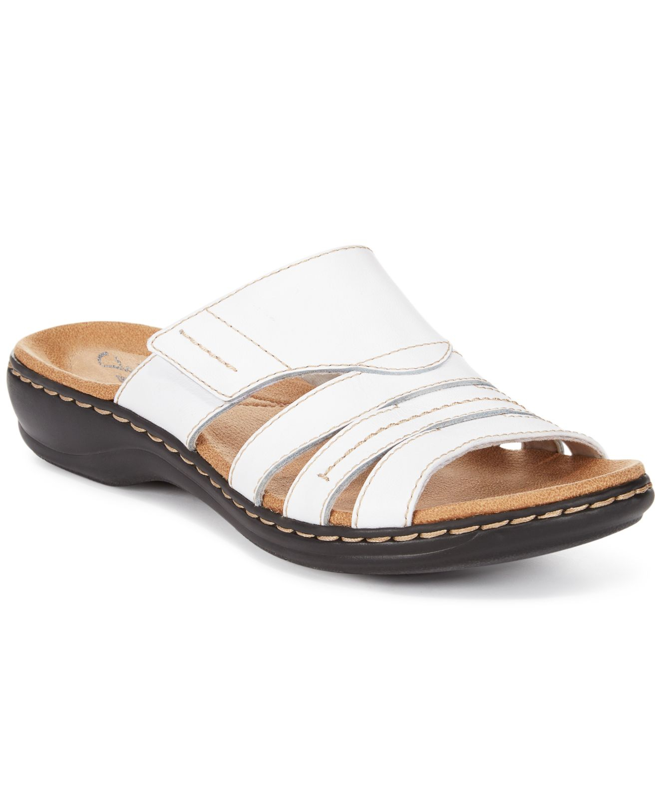 0e6df6164bf7 Lyst - Clarks Collection Women s Leisa Grove Flat Sandals (only At ...