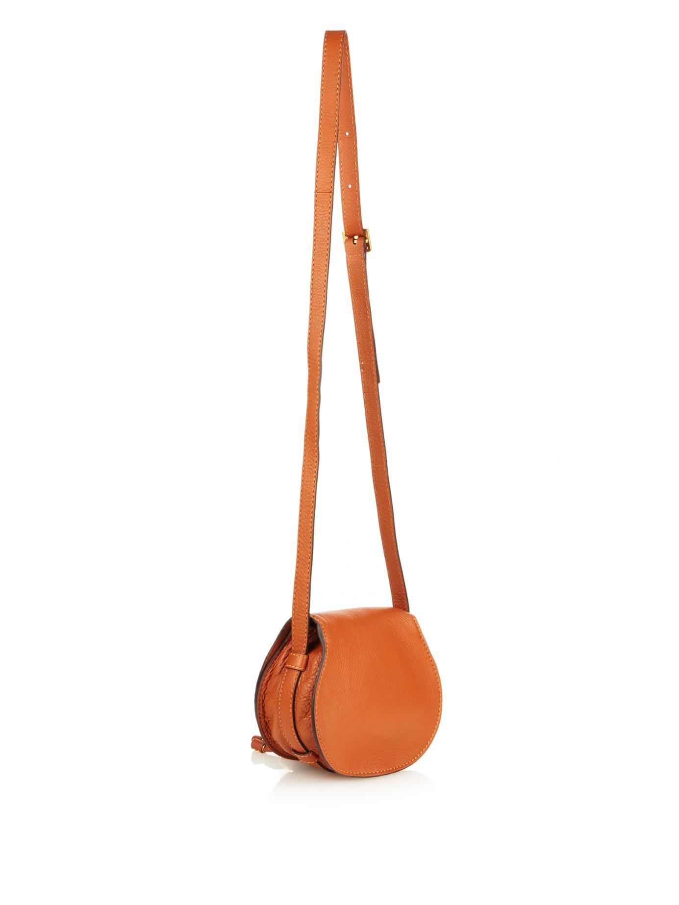 chloe cheap handbags - Chlo�� Marcie Small Leather Cross-Body Bag in Brown (TAN) | Lyst