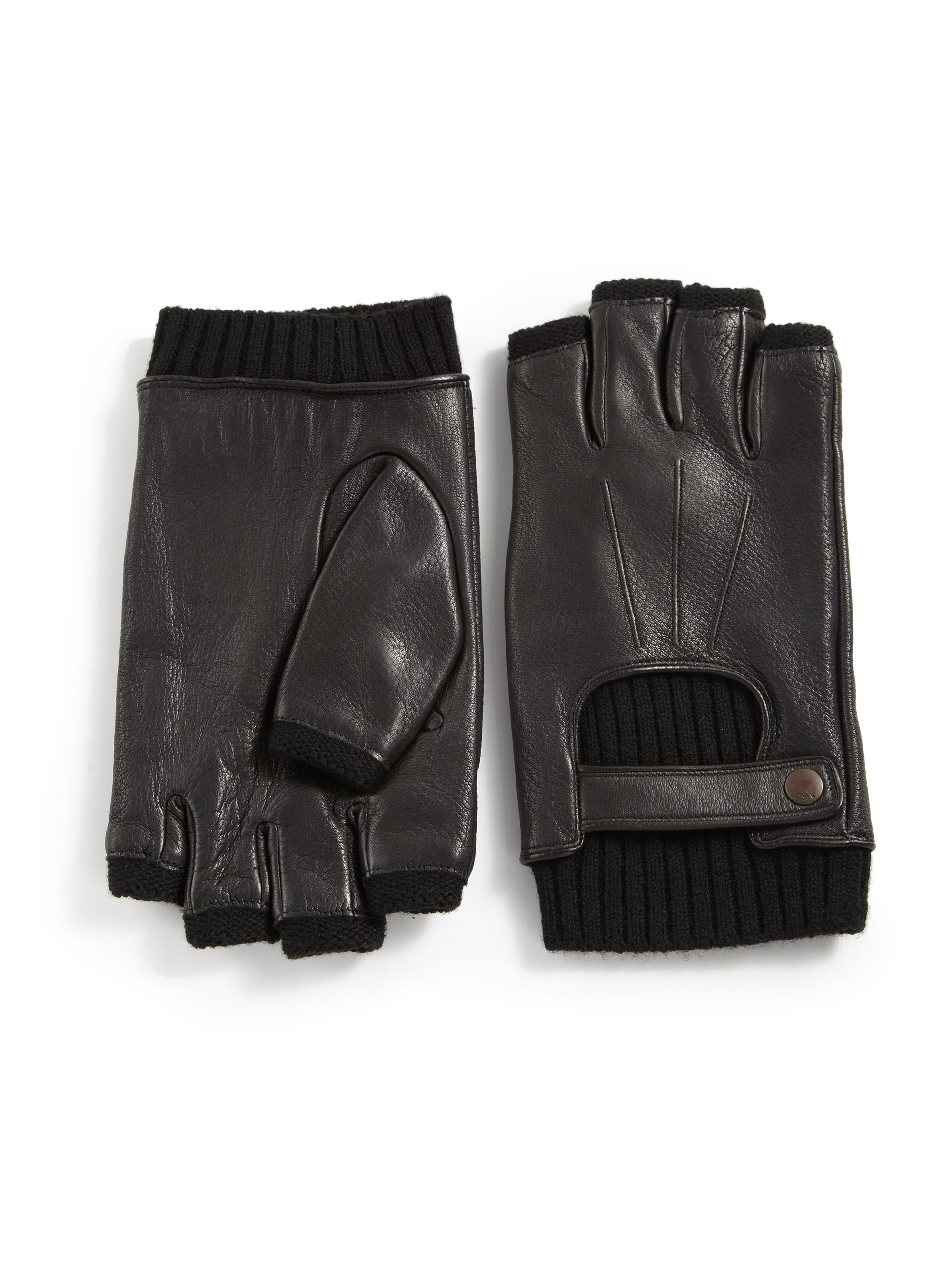 John varvatos leather driving gloves - John Varvatos Accessories Varvato Usa Fingerless Driving Gloves