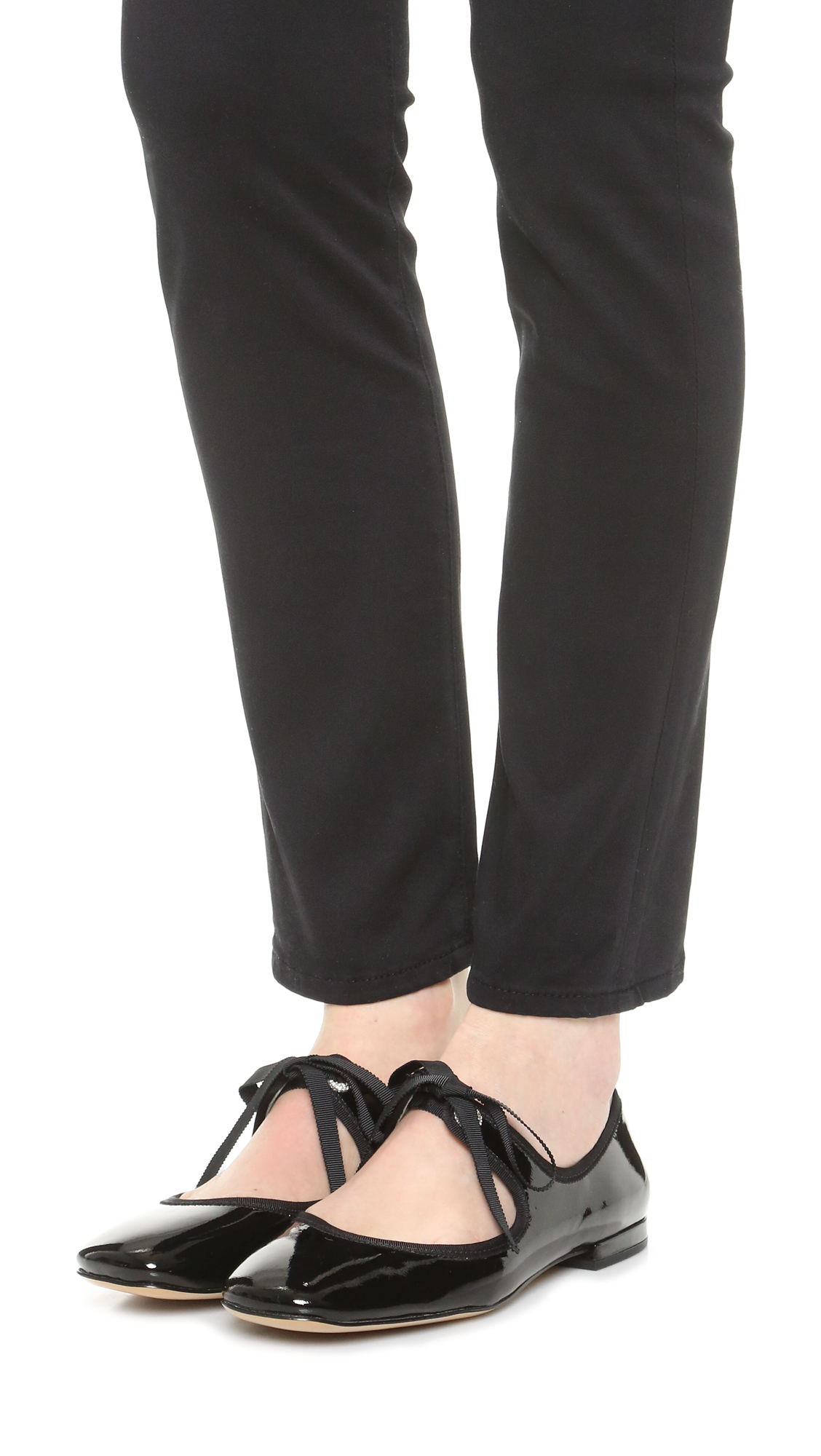 Lyst Marc Jacobs Lisa Mary Jane Ballerina Flats In Black
