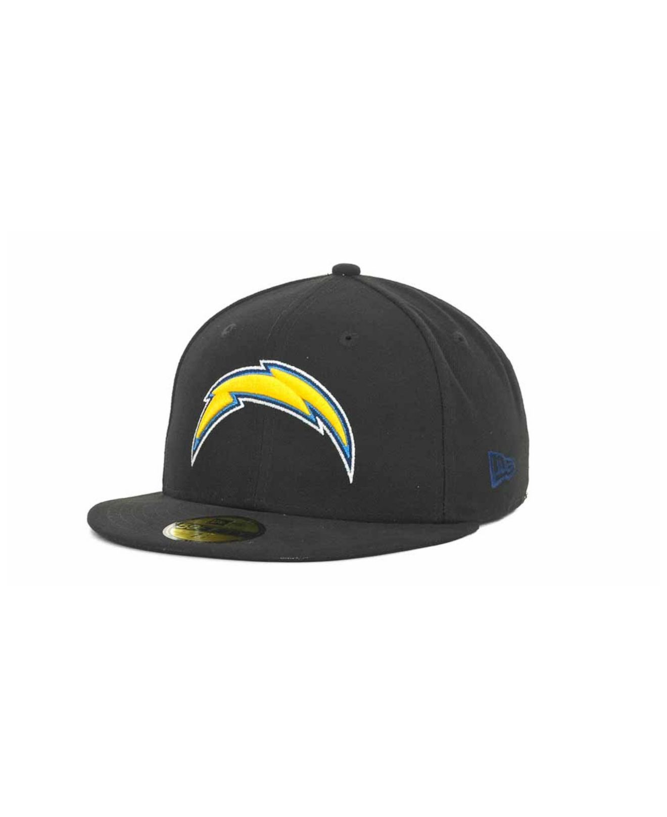 San Diego Chargers Car Accessories: Ktz San Diego Chargers Nfl Black Team 59fifty Cap In Black