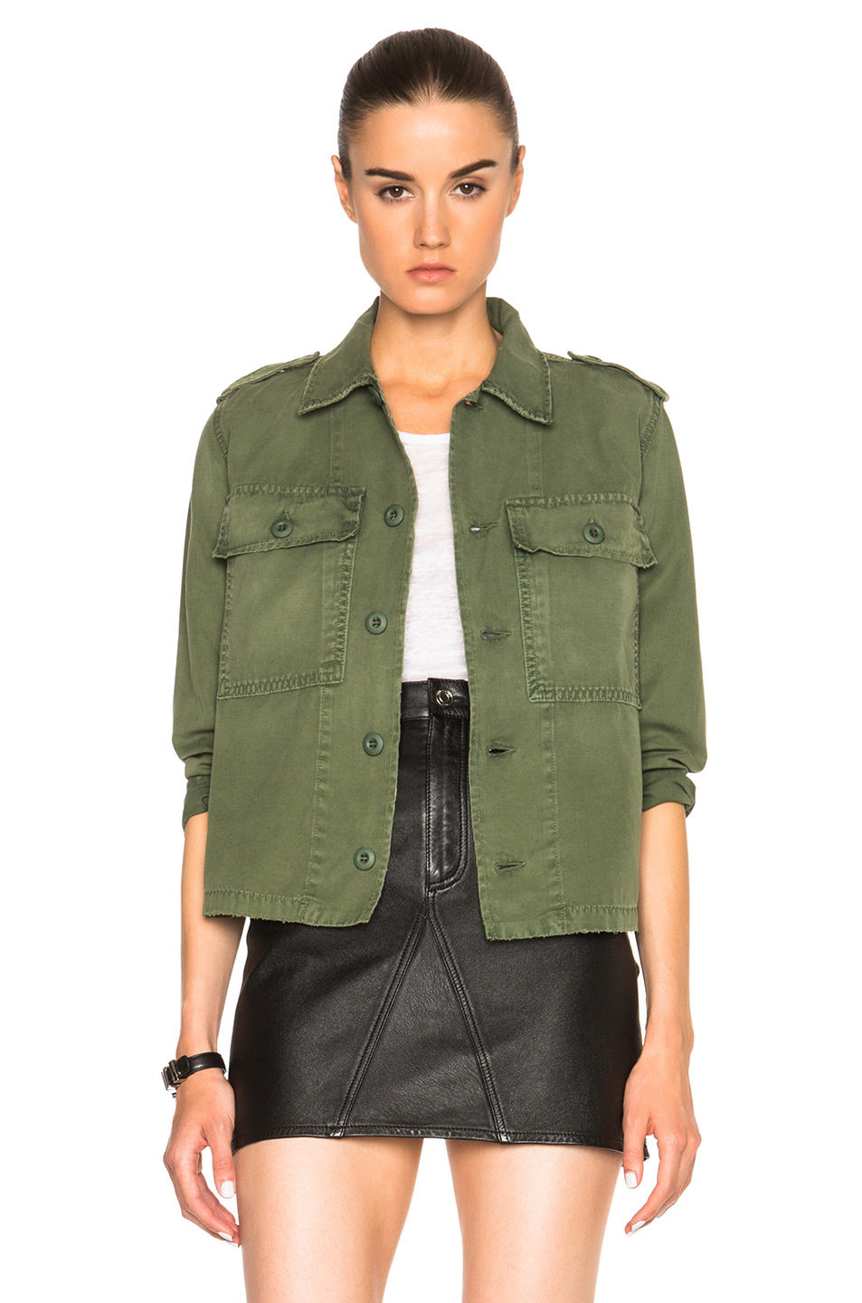 Amo Army Shirt Jacket in Green | Lyst
