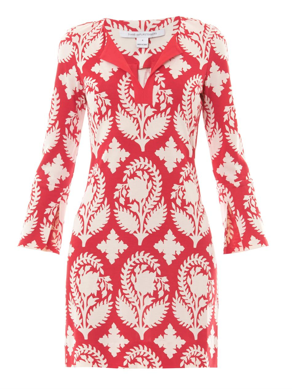 Dvf Reina Dress Red View Fullscreen