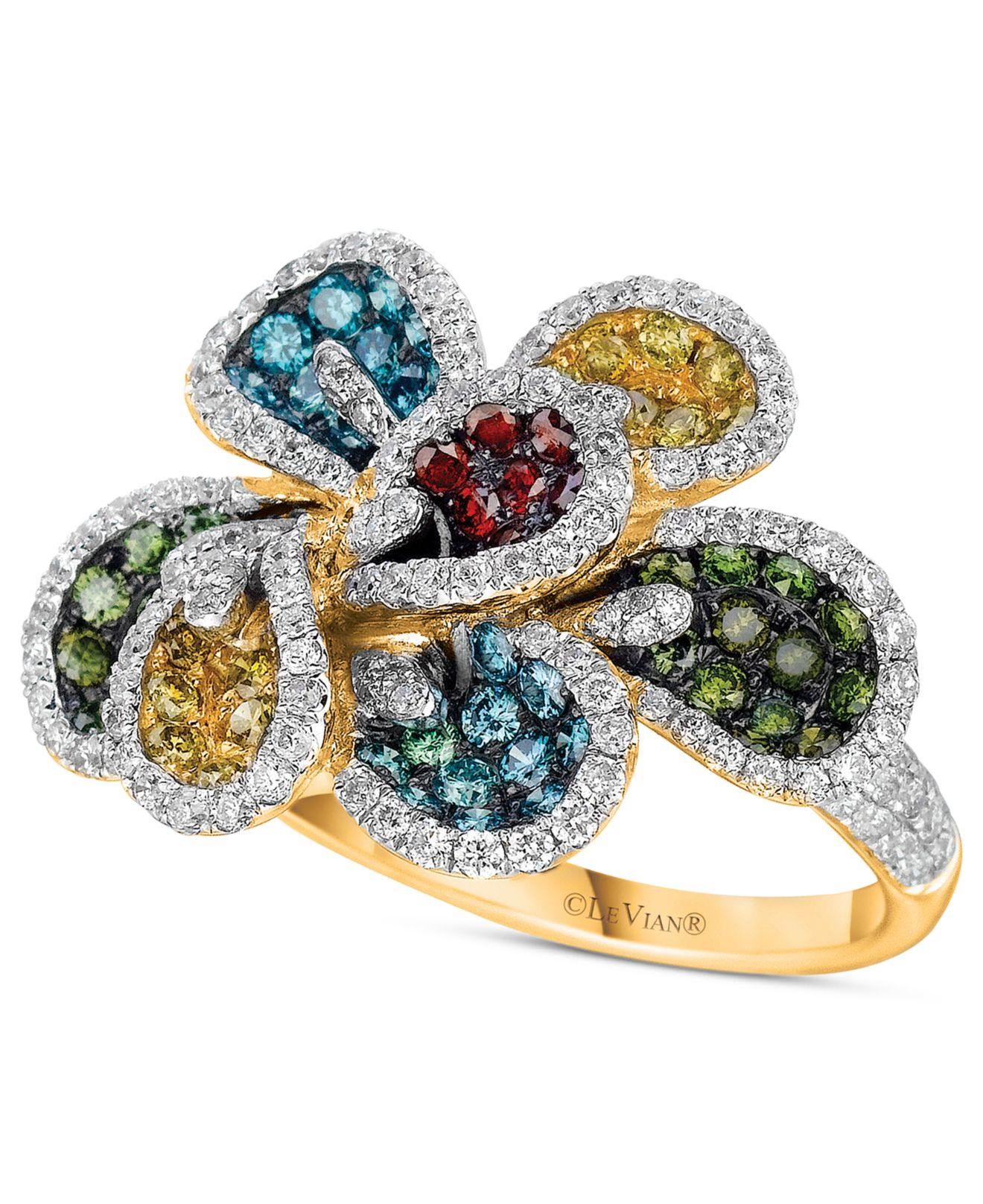 Lyst Le Vian Mixberry Diamond Flower Ring 2 Ct T W