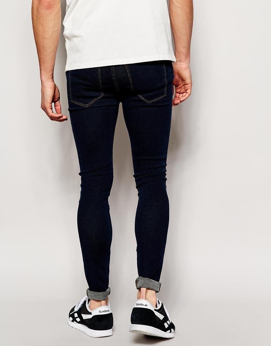 Dr. denim Jeans Lexy High Spray On Extreme Super Skinny Dark Stone ...