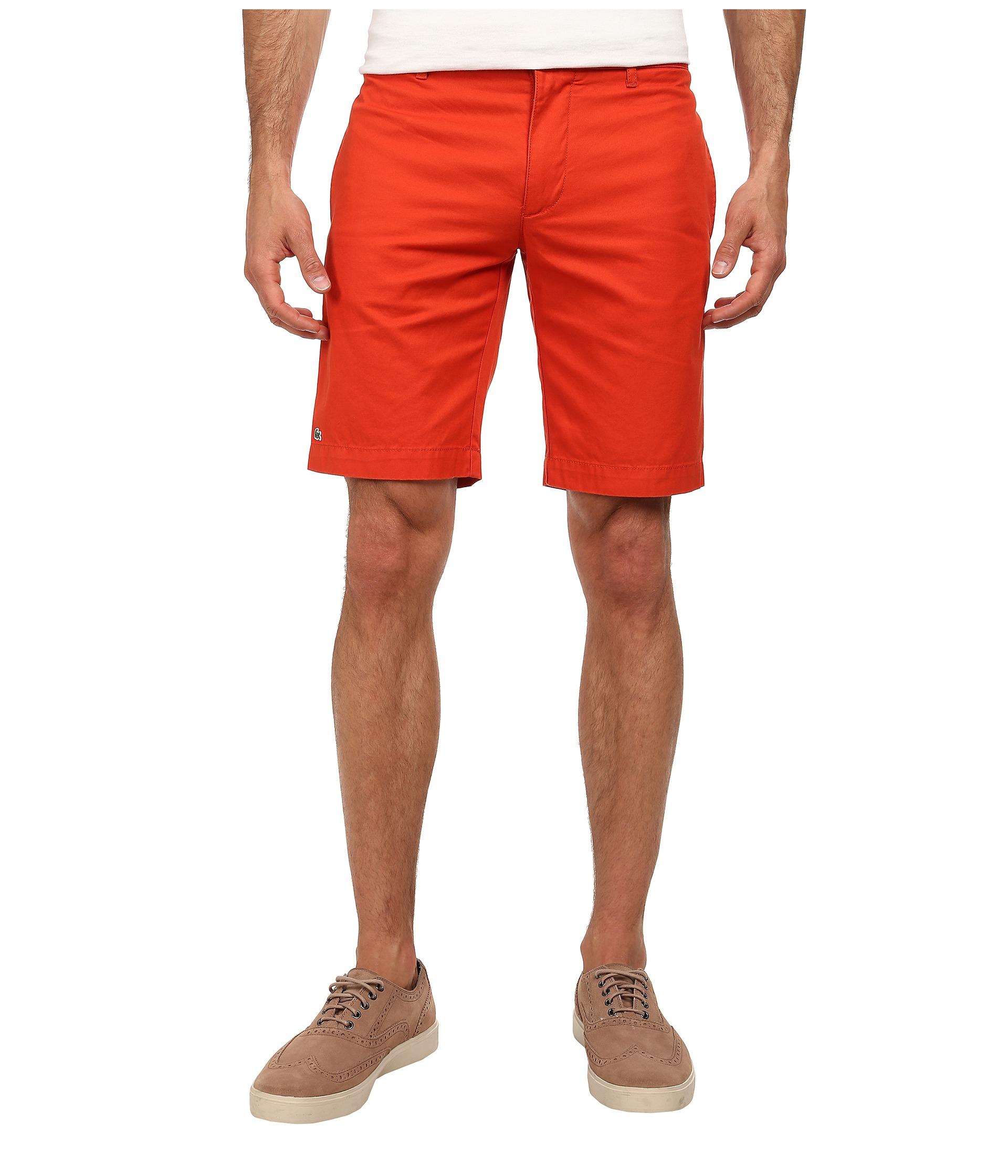 lacoste slim fit bermuda short in orange for men lyst. Black Bedroom Furniture Sets. Home Design Ideas