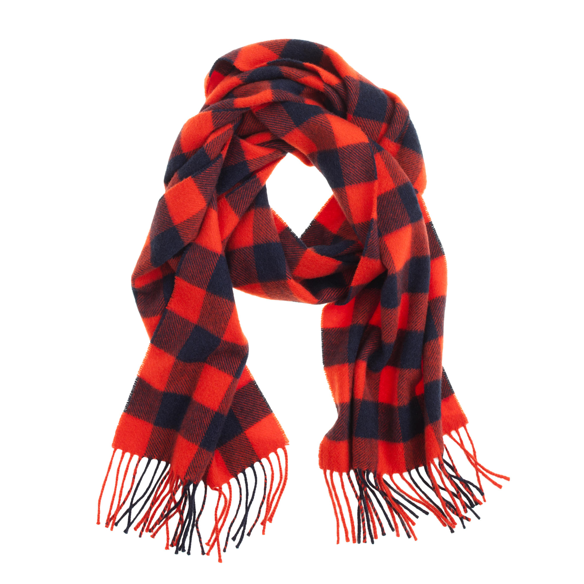 J.crew Cashmere Scarf In Plaid in Red for Men | Lyst