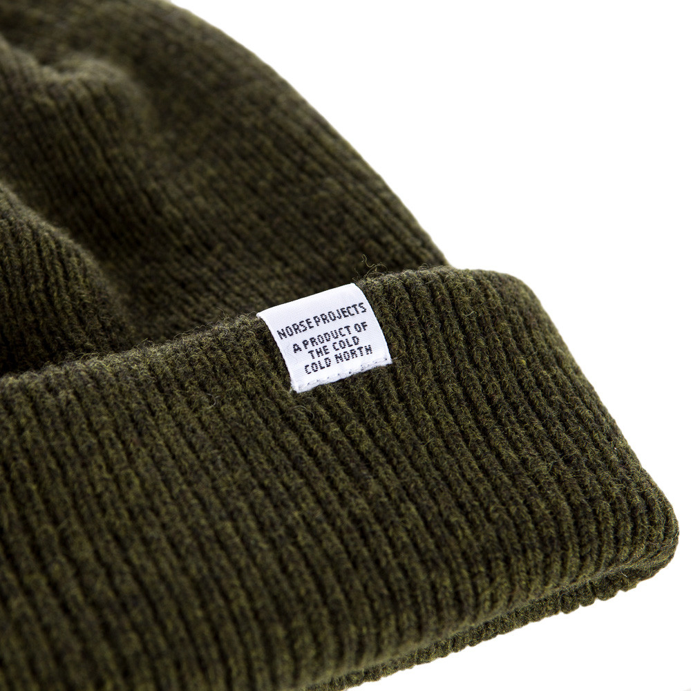 Lyst - Norse Projects Norse Beanie In Rosin Green in Green for Men 38c859bc10d