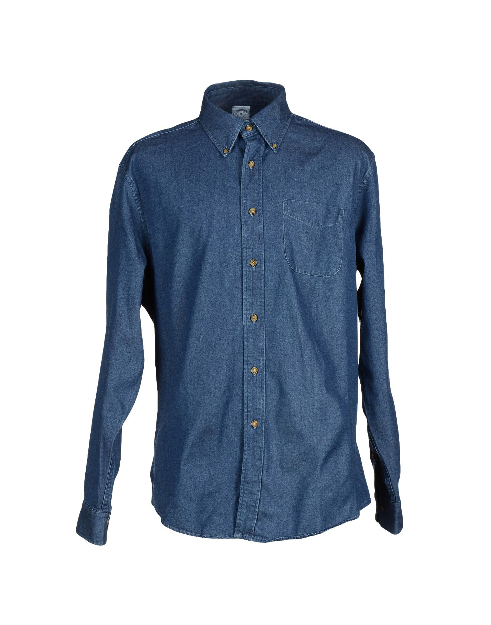 Lyst Brooks Brothers Denim Shirt In Blue For Men