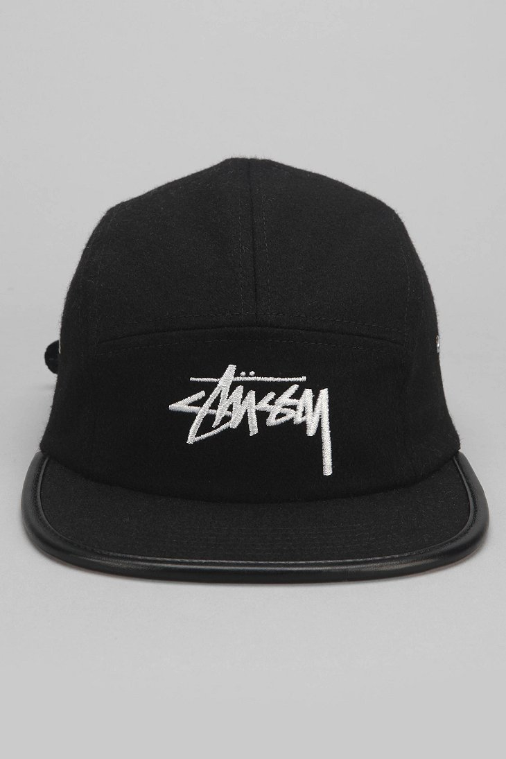 Lyst - Stussy Melton Wool 5-Panel Hat in Black for Men c34da5cae7d