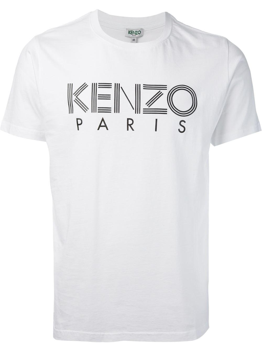 6daba3286688 KENZO ' Paris' T-Shirt in White for Men - Lyst