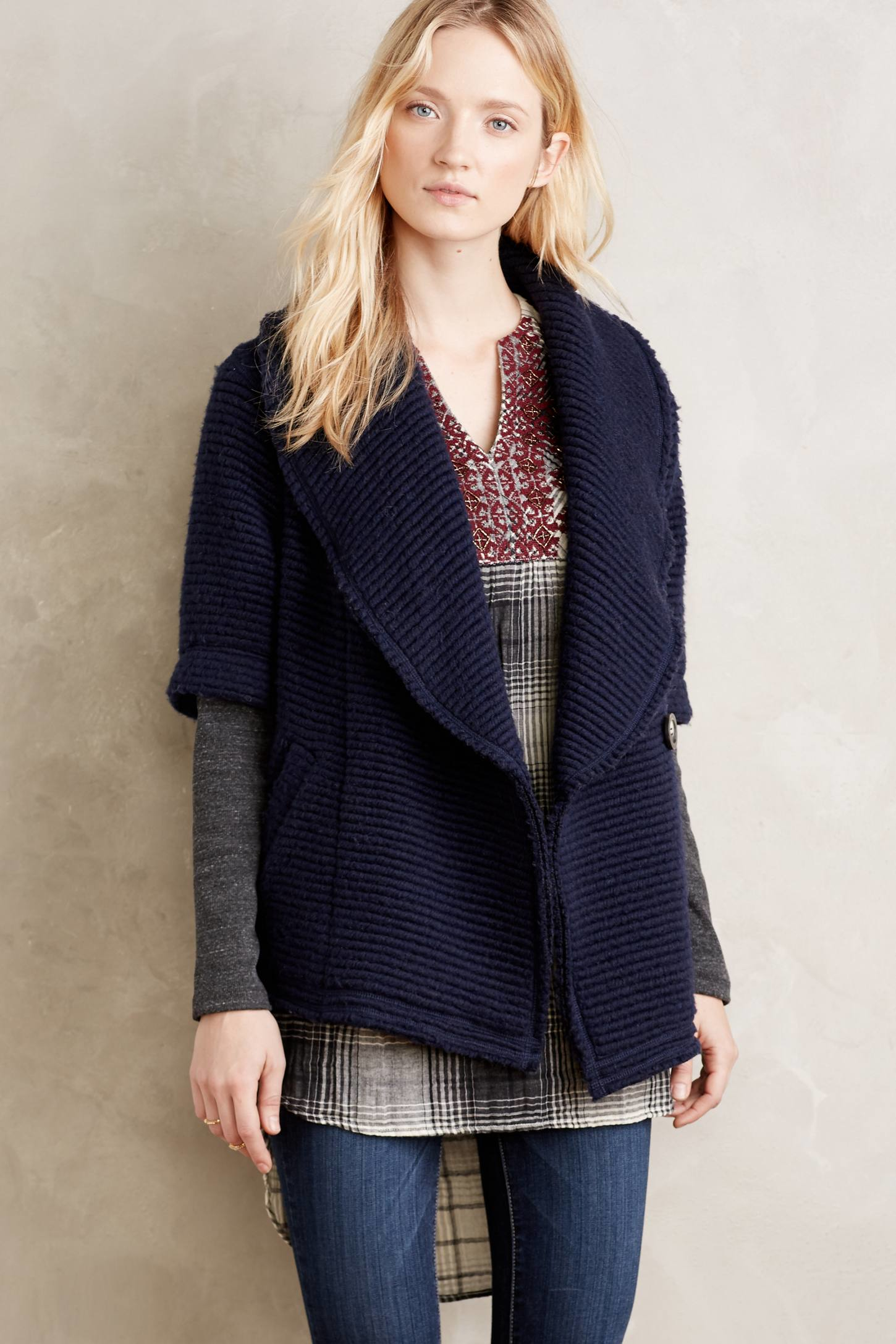 Dolan left coast Overland Sweater Coat in Blue | Lyst
