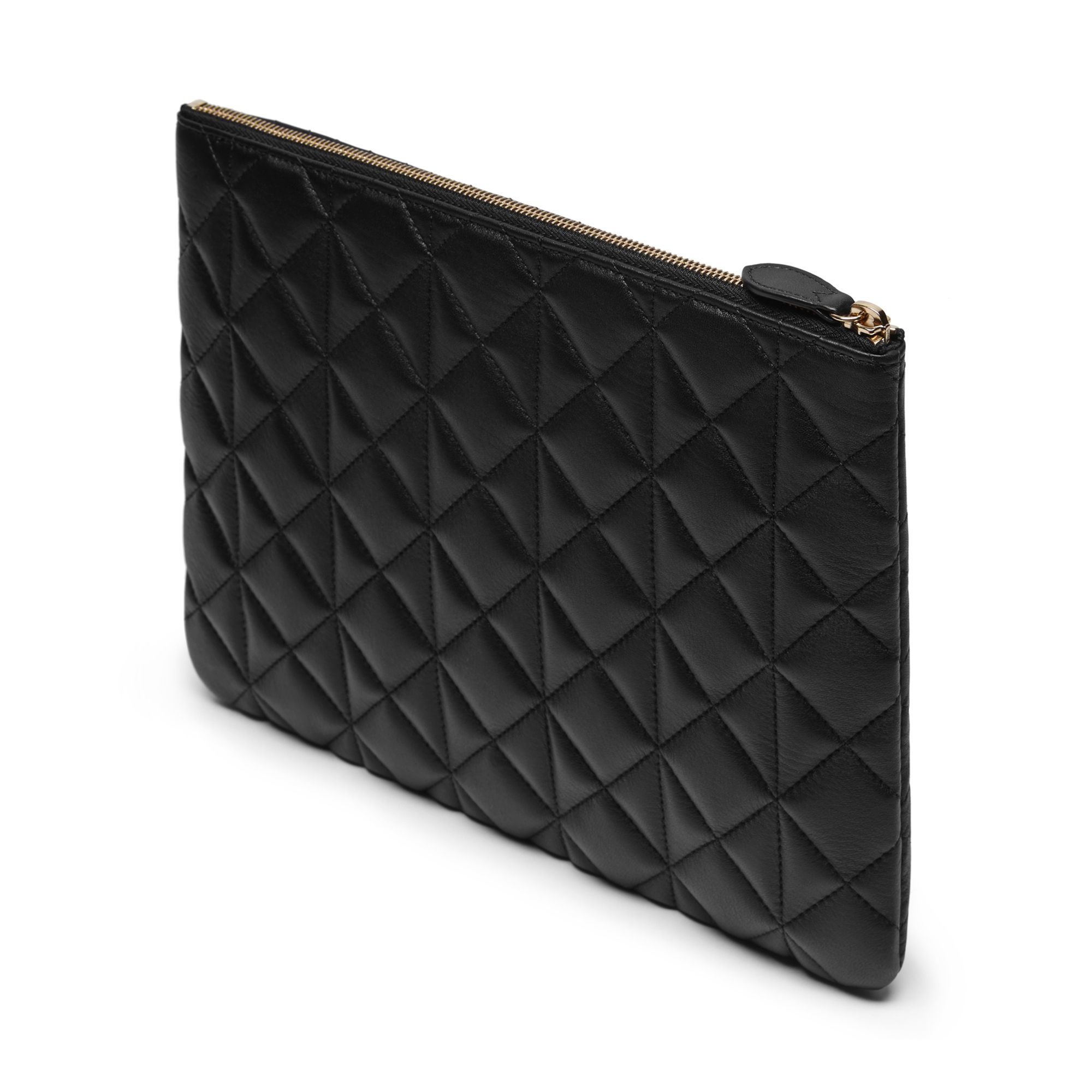 59b5558543 Mulberry Cara Delevingne Large Pouch in Black - Lyst