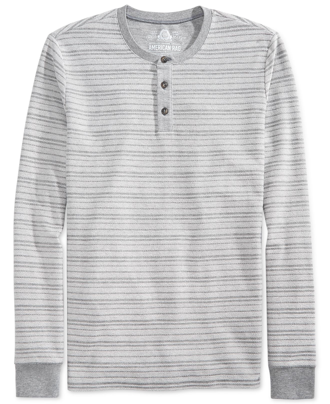 american rag loopy striped henley in white for lyst