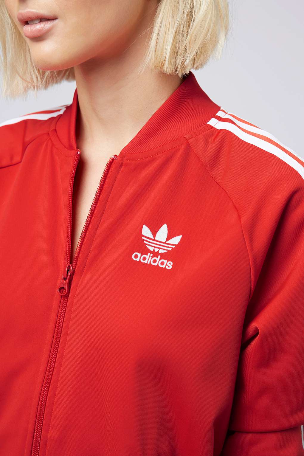 TOPSHOP Super Girl Track Top Jacket By Adidas Originals in Red - Lyst f2e87df38