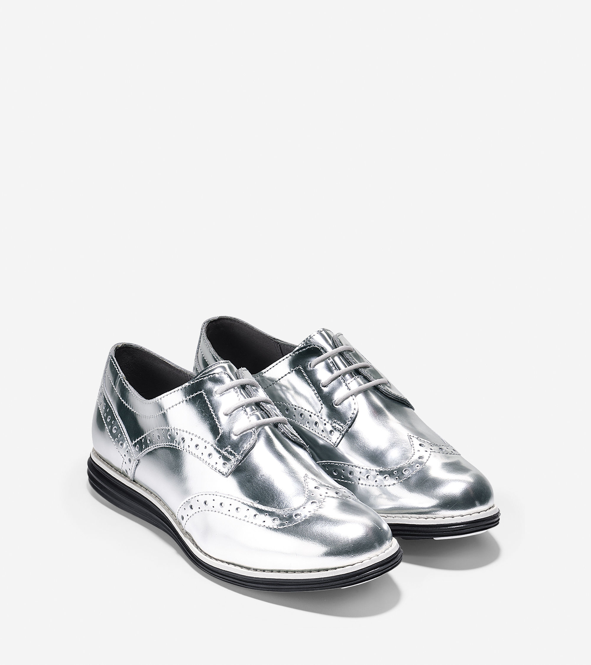 cole haan original grand leather oxford shoes in metallic lyst. Black Bedroom Furniture Sets. Home Design Ideas