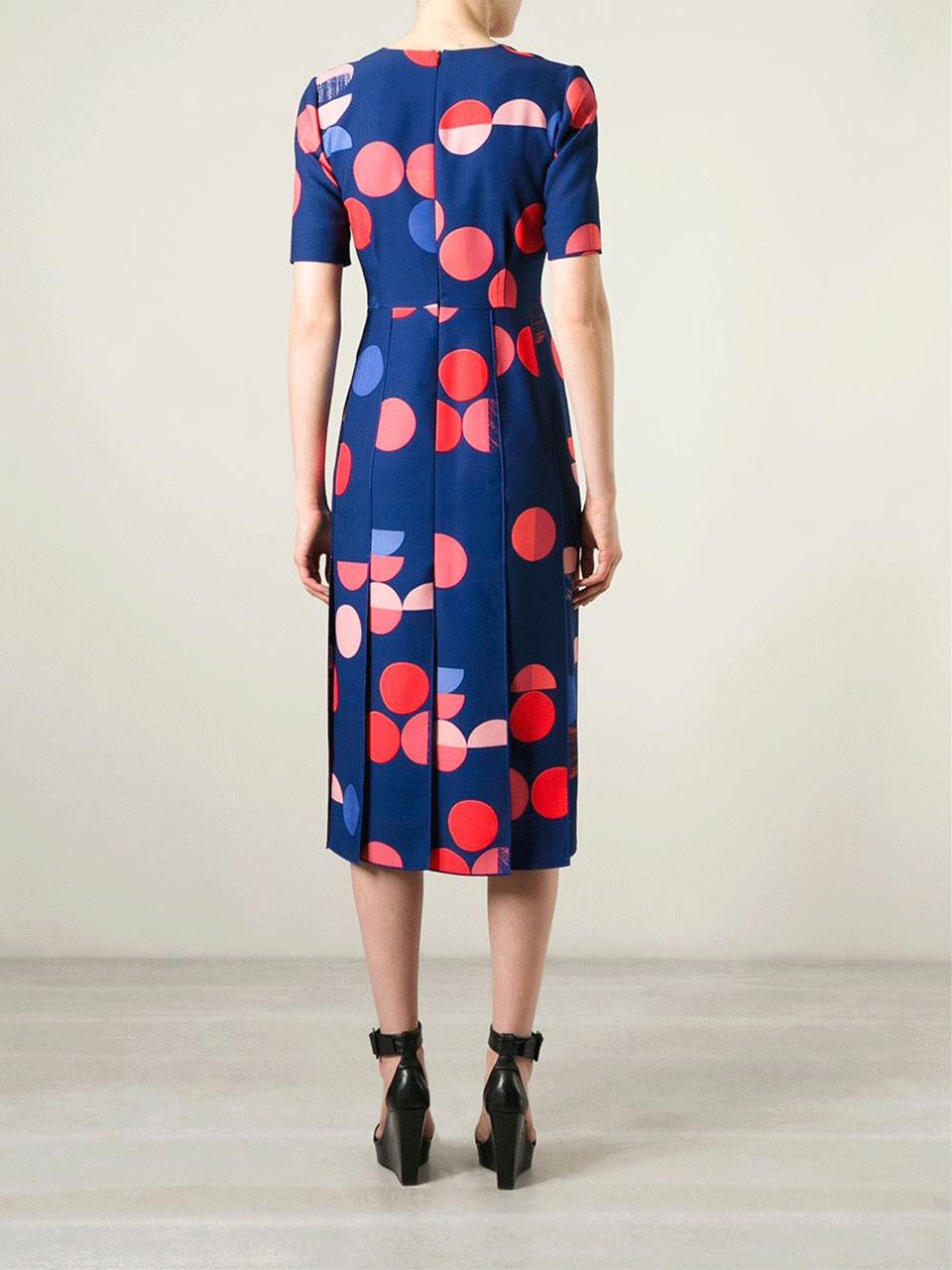 beckham split skirt midi dress in blue