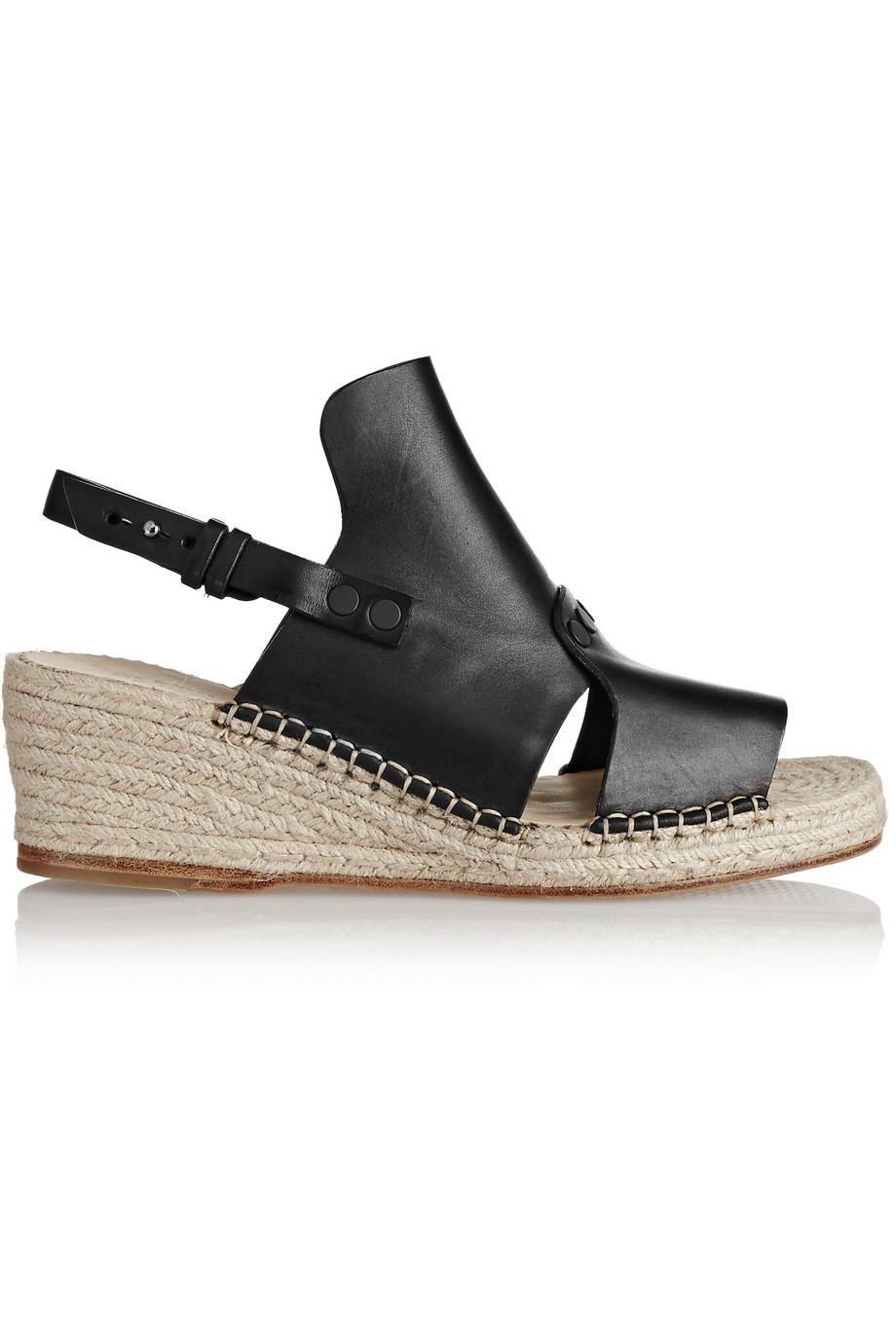 f2d8943c956 Lyst - Rag   Bone Sayre Ii Leather Espadrille Wedge Sandals in Black