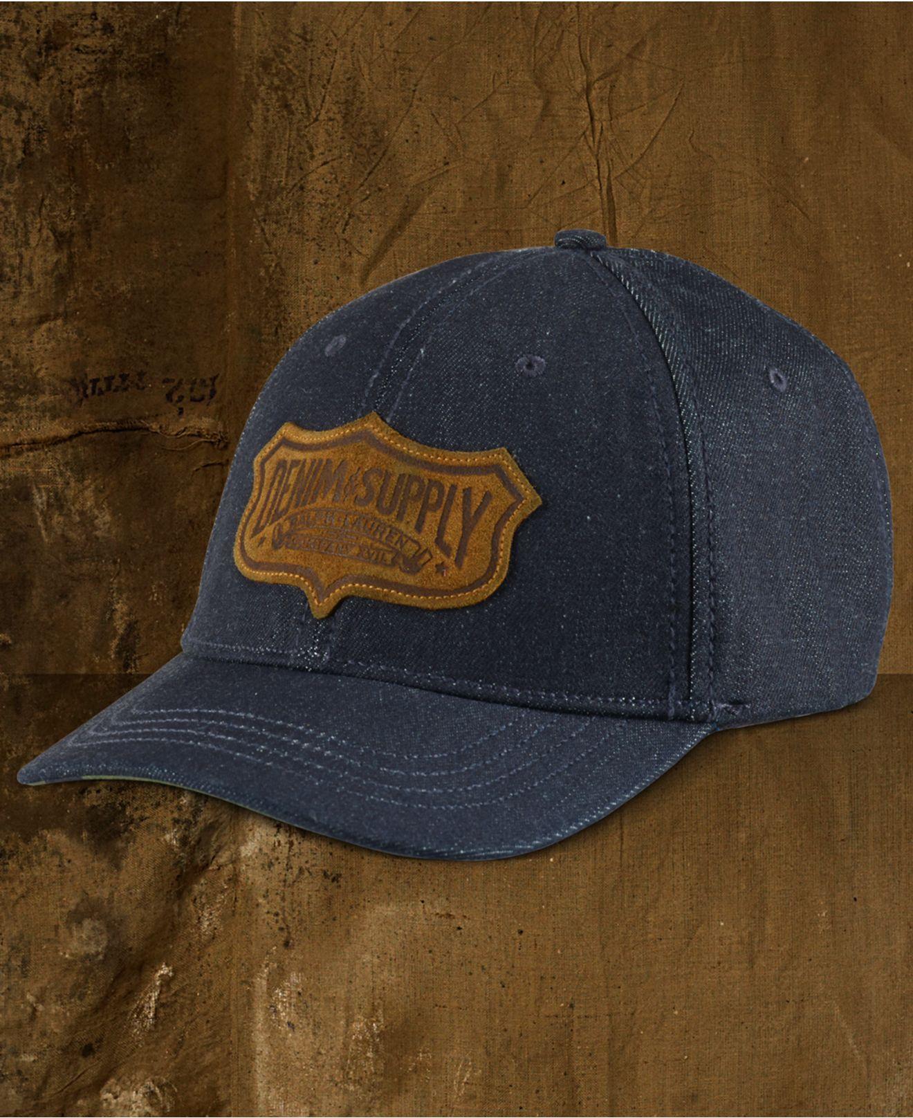 81eb92b8f1e Lyst - Denim   Supply Ralph Lauren Men s Denim Baseball Cap in Blue ...