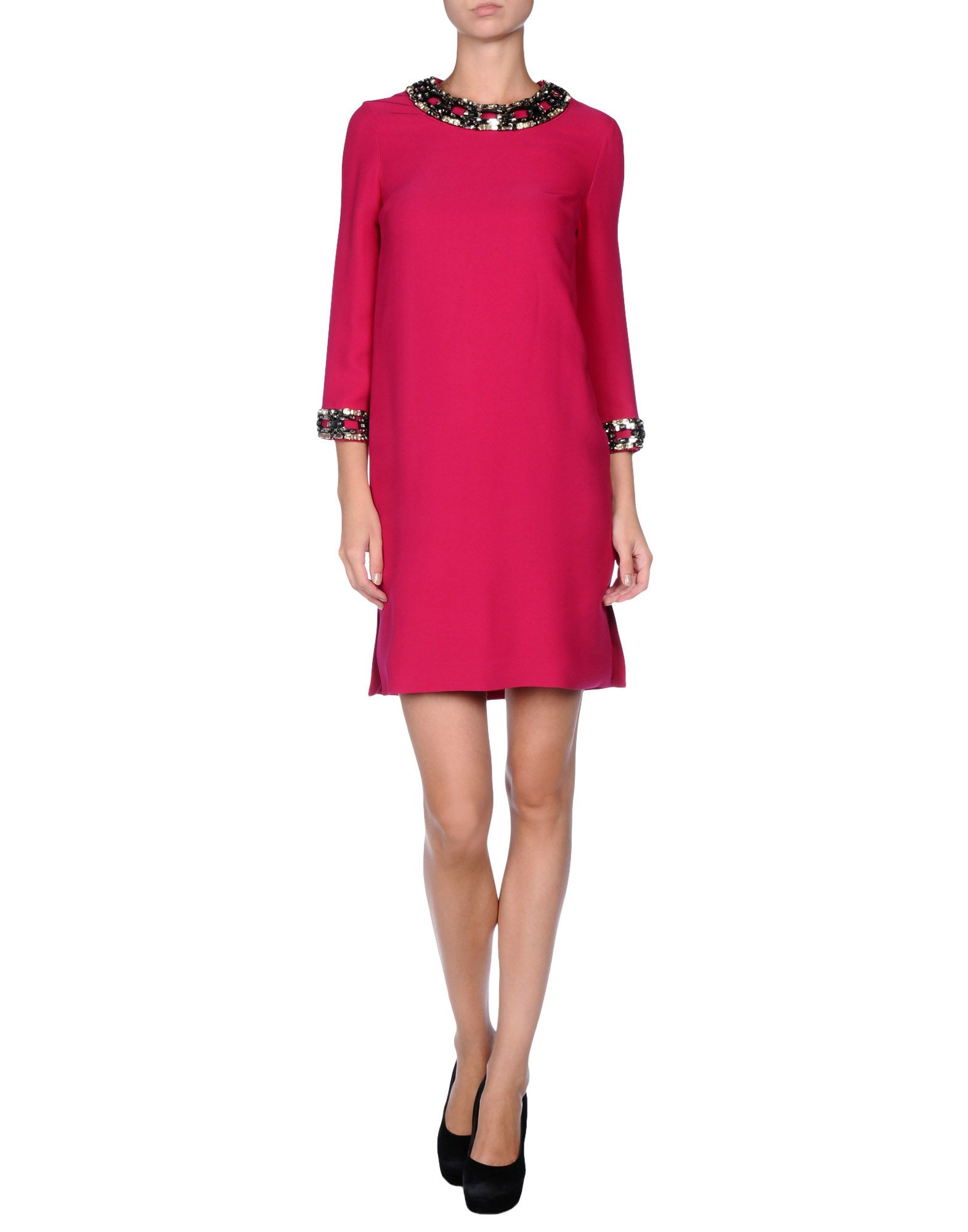 gucci short dress in purple fuchsia lyst