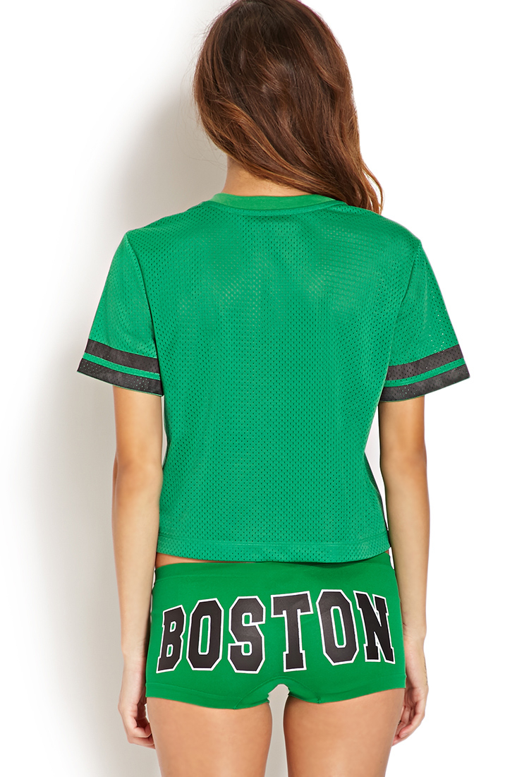 Forever 21 Boston Celtics Jersey Top in Green | Lyst