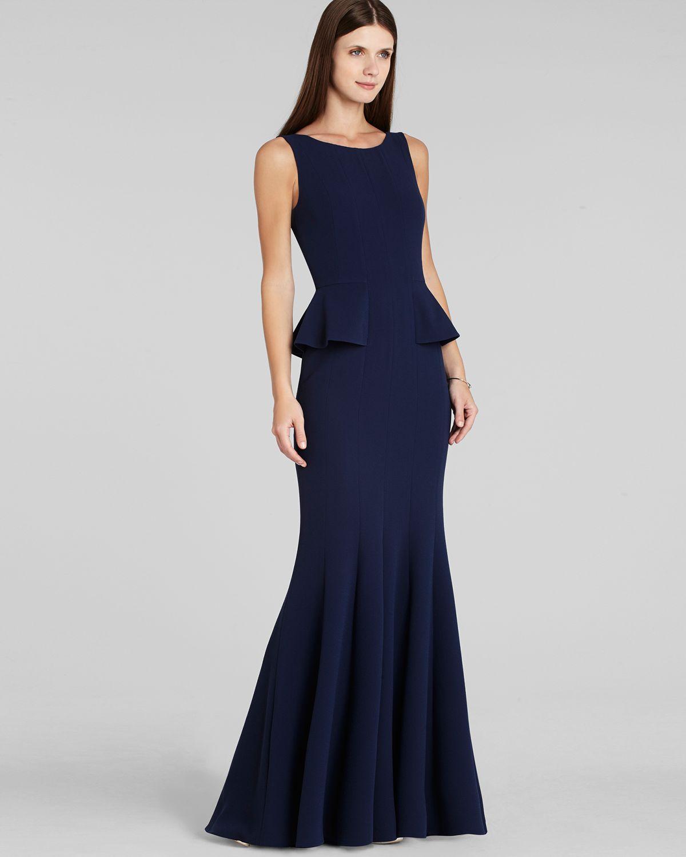 Lyst - Bcbgmaxazria Gown - Francesca Peplum in Blue