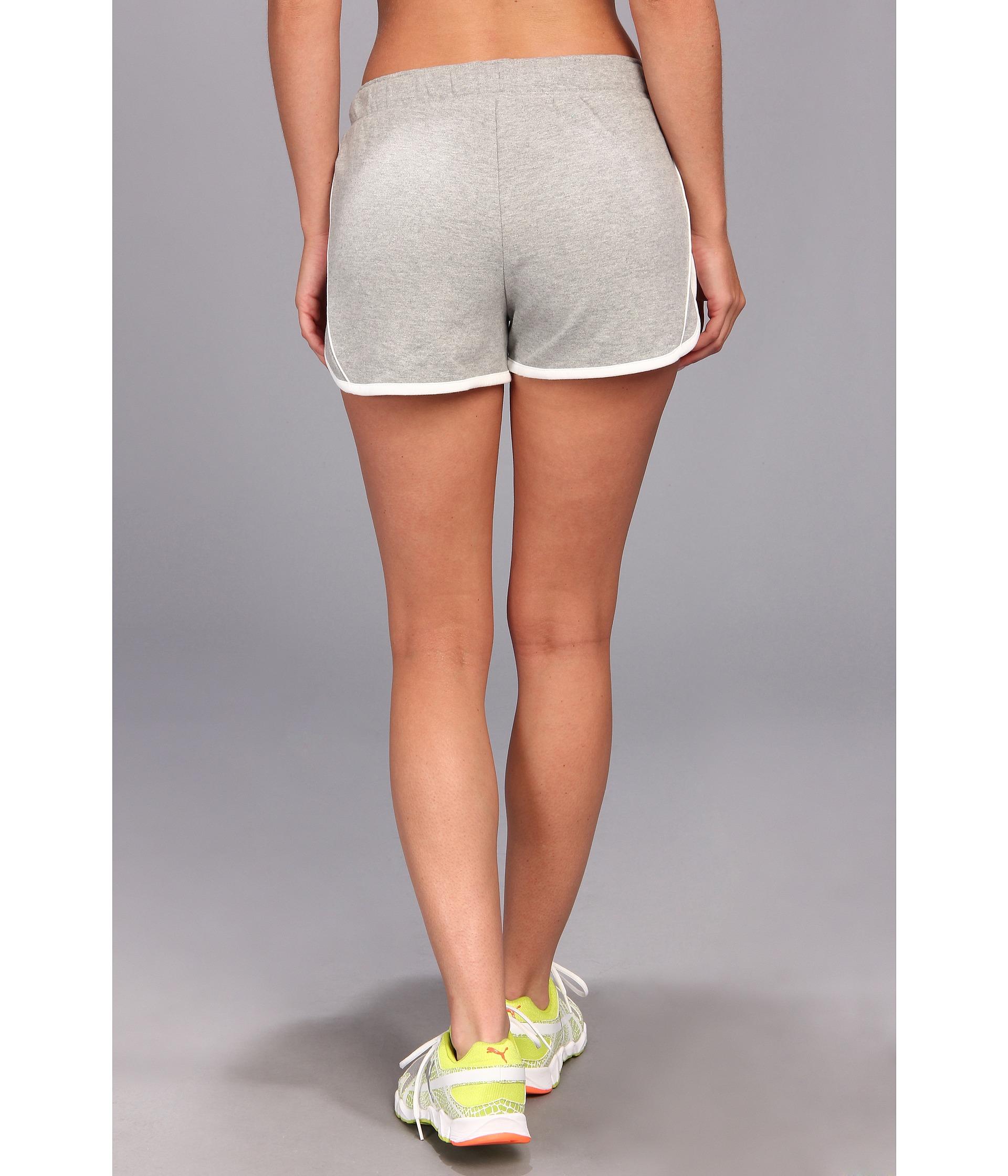 734bc1b8b733 PUMA Core Knit Shorts in Gray - Lyst