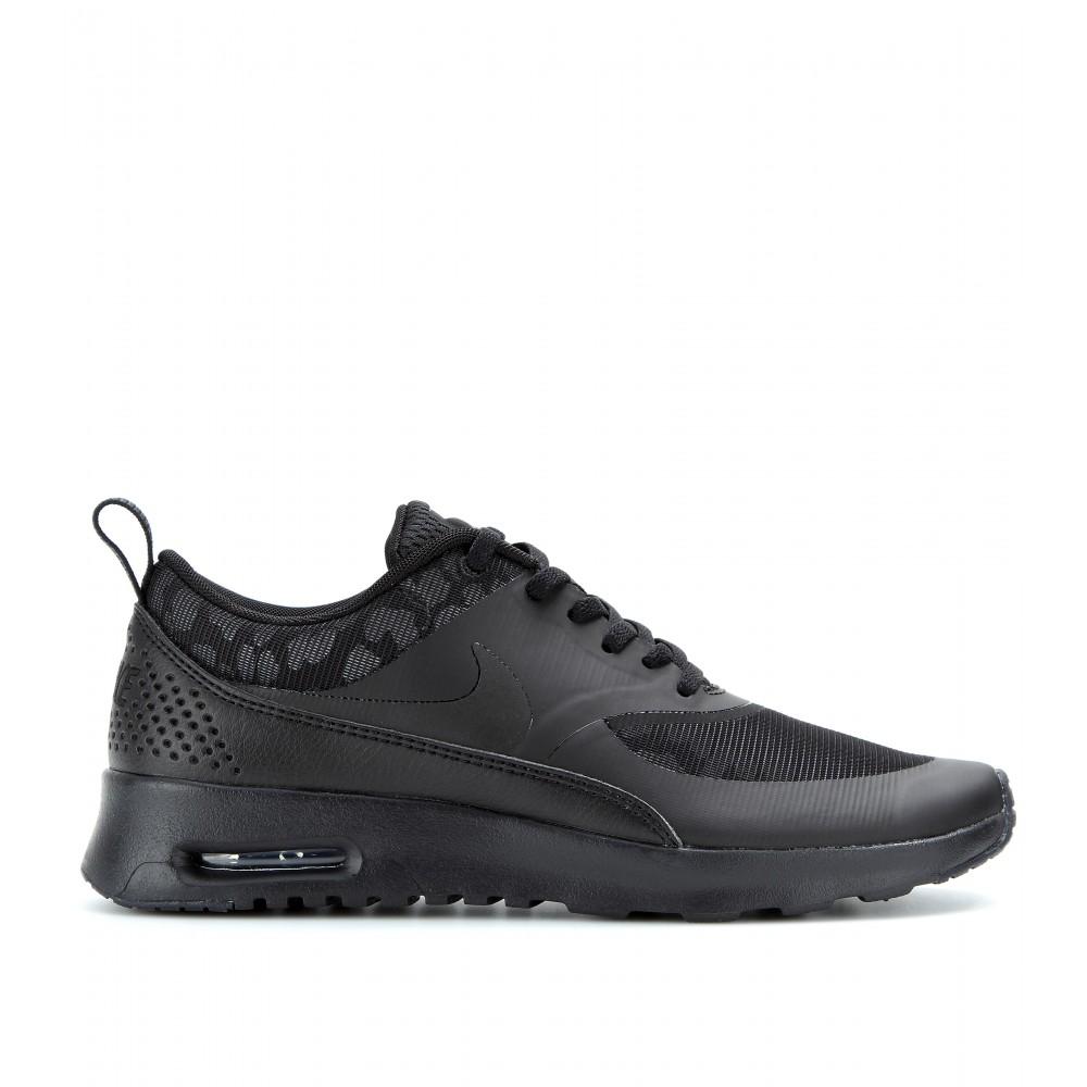 lyst nike air max thea premium sneakers in black. Black Bedroom Furniture Sets. Home Design Ideas